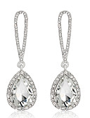 cheap Wedding Veils-Women's Crystal Drop Earrings Dangle Earrings - Zircon Jewelry Dark Red / Navy / Champagne For Wedding Party Daily