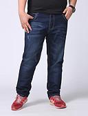 povoljno Muške majice i potkošulje-Muškarci Veći konfekcijski brojevi Pamuk Traperice Hlače Jednobojni