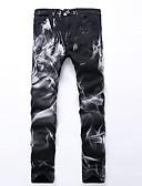 abordables Pantalones y Shorts de Hombre-Hombre Punk & Gótico Chic de Calle Tallas Grandes Algodón Delgado Corte Recto Corte Ancho Chinos Pantalones Plisado Estampado