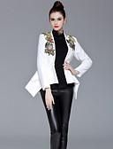 cheap Women's Blazers-ZIYI Women's Daily / Work Slim Blazer - Floral, Embroidered Choker