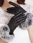 זול חליפות שני חלקים לנשים-קצות האצבעות כפפות אורך פרק כף היד פוליאוריתן מסיבה / עבודה בגדי ריקוד נשים / חמוד / חורף