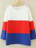 お買い得  レディーストップス-女性用 シック・モダン スウェットシャツ - カラーブロック 純色, フォーマル