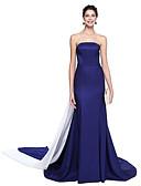 preiswerte Abendkleider-Trompete / Meerjungfrau Trägerlos Boden-Länge Taft Promi-Stil Formeller Abend Kleid mit Plissee durch TS Couture®