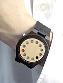 baratos Relógio Elegante-Homens Relógio Madeira Único Criativo relógio Relógio de Moda Relógio Esportivo Quartzo Quartzo Japonês / Venda imperdível Couro Banda