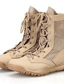 זול כובעים אופנתיים-יוניסקס נעליים סוויד אביב / קיץ / סתיו נוחות / קאובוי / מגפיים מערביים / מגפיים מגפיים טיפוס שחור / בז'