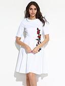 お買い得  レディースドレス-女性用 プラスサイズ Aライン ドレス フラワー