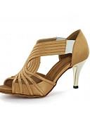 olcso Blúz-Női Latin Dzsessz Swing-cipők Salsa Szatén Szandál Magassarkúk Otthoni Teljesítmény Professzionális Kezdő Gyakorlat Fodrozott Tűsarok