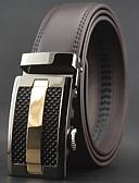 cheap Men's Belt-Men's Work Casual Leather Alloy Waist Belt - Solid Colored