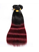economico Gonne retrò con linea A-Brasiliano Liscio 8A Cappelli veri Ambra Tessiture capelli umani Estensioni dei capelli umani / Dritto