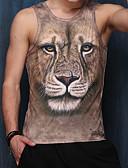 preiswerte Herren T-Shirts & Tank Tops-Herrn Tierfell-Druck Sport Strand Klub T-shirt, V-Ausschnitt Druck