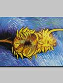 abordables Sudaderas de Hombre-Pintura al óleo pintada a colgar Pintada a mano - Famoso Clásico Tradicional Lona