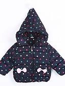 halpa Tyttöjen vaatteet-Tyttöjen Polka Dot Höyhen- ja puuvillatopattu Päivittäin Puuvilla Talvi Laivaston sininen