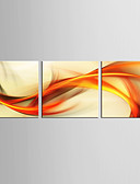 お買い得  レディースセーター-抽象画 ファンタジー 近代の リアリズム, 3枚 キャンバス 縦式 プリント 壁の装飾 ホームデコレーション