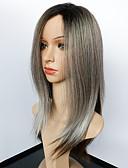 halpa Miesten hupparit ja collegepuserot-Synteettiset peruukit Suora Synteettiset hiukset Liukuvärjätyt hiukset / Afro-amerikkalainen peruukki Harmaa Peruukki Naisten Keskikokoinen Suojuksettomat