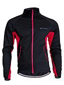 voordelige Damestops-Nuckily Unisex Wielrenjack Fietsen Shirt / Kleding Bovenlichaam Houd Warm, Winddicht, Ademend Patchwork Polyester, Fleece Zwart / rood /