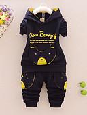tanie Zestawy ubrań dla chłopców-Komplet odzieży Bawełna Dla chłopców Wiosna Jesień Długi rękaw Kreskówka Dark Blue Yellow Czerwony