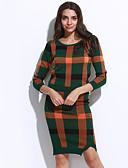 abordables Trajes de Dos Piezas para Mujer-Mujer Blusa Conjunto - A Cuadros Falda