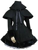 billige T-shirts og undertrøjer til herrer-Prinsesse Sød Lolita Blonde Dame Jakke Cosplay Sort Balkjole Langærmet Medium Længde Plusstørrelser Halloween Kostumer / Customized