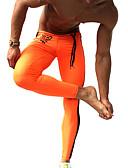 tanie Egzotyczna bielizna męska-Męskie Getry do biegania / Legginsy na siłownie - Pomarańczowy, Zielony Sport Moda Ubrania uciskowe Fitness, Siłownia, Trening Odzież sportowa Szybkie wysychanie, Przepuszczalność wilgoci, Wysoka