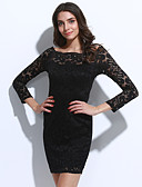 cheap Women's Dresses-Street chic Bodycon Dress - Solid Colored, Lace Cut Out