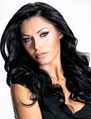 ieftine Chiloți-Peruci Sintetice Buclat Frizură Asimetrică Păr Sintetic Linia naturală de păr Negru Perucă Pentru femei Lung Fără calotă Negru