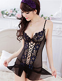cheap Women's Nightwear-Women's Super Sexy Suits Ultra Sexy Robes Lace Lingerie Nightwear Patchwork