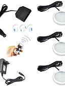 billige Topper til damer-ONDENN 600lm 12 LED Fjernstyrt Mulighet for demping Lett installasjon Koblingsbar Dekorativ Lys Under Skap Varm hvit Kjølig hvit AC85-265