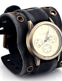 cheap Men's Exotic Underwear-Men's Quartz Wrist Watch / Casual Watch Leather Band Casual Fashion Black