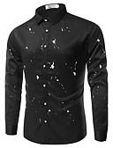 abordables Camisas de Hombre-Hombre Estampado - Algodón Camisa