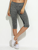 cheap Leggings-Women's Daily Sporty Legging - Solid Color Mid Waist / Spring / Summer / Fall / Skinny