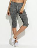 זול מכנסיים לנשים-צועד - צבע אחיד ספורטיבי מותן בינוני יומי בגדי ריקוד נשים / אביב / קיץ / סתיו / סקיני