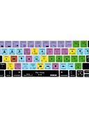 baratos Relógios da Moda-xskn® Final Cut Pro x pele teclado de silicone e barra de toque protector para 2016 mais novo MacBook Pro de 13,3 / 15,4 com toque bar
