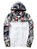 baratos Jaquetas & Casacos para Homens-Homens Tamanhos Grandes Jaqueta Activo Moda de Rua - Sólido Floral camuflagem Com Capuz