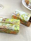 abordables Soportes para Regalo-Redondo Cuadrado De Forma Cúbica Papel de tarjeta Soporte para regalo  con Cintas Estampado Cajas de regalos