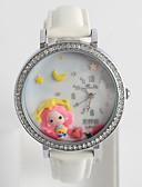 cheap Fashion Watches-Women's Fashion Watch Diamond Watch Quartz Silicone Black / White / Blue / Analog Ladies Casual Cartoon - Blue Pink White / Red