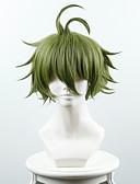 preiswerte Exotische Herrenunterwäsche-Synthetische Perücken Glatt Synthetische Haare Grün Perücke Damen Kurz Kappenlos