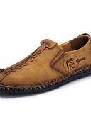 olcso Farmerkabátok-Férfi Bőr cipők Bőr Tavasz / Nyár / Ősz Kényelmes Papucsok & Balerinacipők Gyalogló Csúszásmentes Fekete / Földsárga / Khakizöld