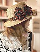 baratos Chapéus de Moda-Mulheres Férias Coco De Palha Chapéu de sol Sólido
