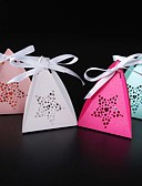 billige Gaveesker-Rund Kvadrat Pyramide Perle-papir Gaveholder med Bånd Printer Favoritt Esker