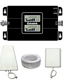 billige Cocktailkjoler-lintratek LCD-display 3g 900 2100 tobånds mobiltelefoner booster signal repeater for mts / tele2 / megafon / Vodafone