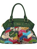 cheap Print Dresses-Women's Bags Cowhide Tote Geometric Jade / Emerald Green