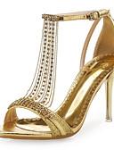 hesapli Kokteyl Elbiseleri-Kadın's Ayakkabı Sentetik Mikrofiber PU / Parıltılı Yaz / Sonbahar Rahat / Yenilikçi Sandaletler Stiletto Topuk Düğün / Elbise / Parti ve