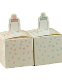 baratos Suporte para Lembrancinhas-Criativo Cúbico Papel de Cartão Suportes para Lembrancinhas com Estampa Caixas de Ofertas