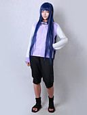 hesapli Göbek Dansı Giysileri-Esinlenen Naruto Hinata Hyuga Anime Cosplay Kostümleri Cosplay Takımları Solid Uzun Kollu Palto / Şort Uyumluluk Erkek / Kadın's Cadılar Bayramı Kostümleri