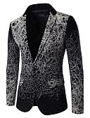 cheap Men's Sweaters & Cardigans-Men's Plus Size Cotton Blazer - Geometric Stand