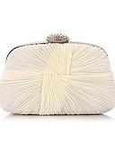 cheap Mother of the Bride Dresses-Women's Bags Chiffon Evening Bag Ruffles Stripe Aquamarine / Almond / Cream