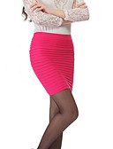 cheap Women's Skirts-Women's Going out Cotton Bodycon Skirts - Solid Colored / Summer / Mini