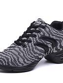 abordables Tops de Mujeres-Mujer Zapatos de Baile Latino / Zapatos de Jazz / Zapatillas de Baile Tejido Zapatilla Fruncido Tacón Cuadrado No Personalizables Zapatos