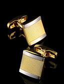 olcso Kvarc-Geometric Shape Aranyozott Manžete Réz Klasszikus Divat Ajándék dobozok és táskák Parti Üzlet / Ünnepség / Esküvő Férfi Jelmez ékszerek