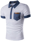 cheap Men's Polos-Men's Street chic Polo - Geometric Shirt Collar